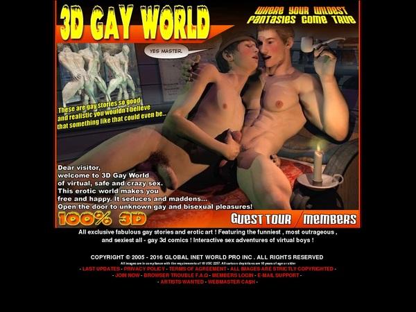 3D Gay World Account List