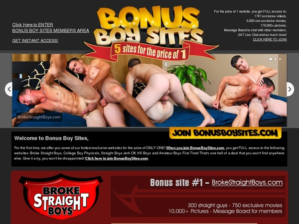 Bonus Boy Sites Password Dump