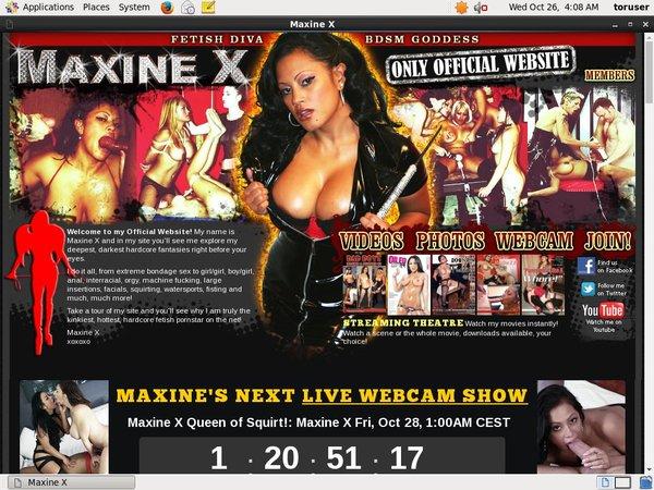 Maxine X Account Logins