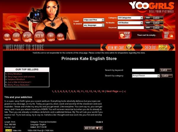New Princess Kate English Password