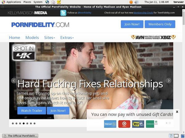 Pornfidelity.com Paypal Access