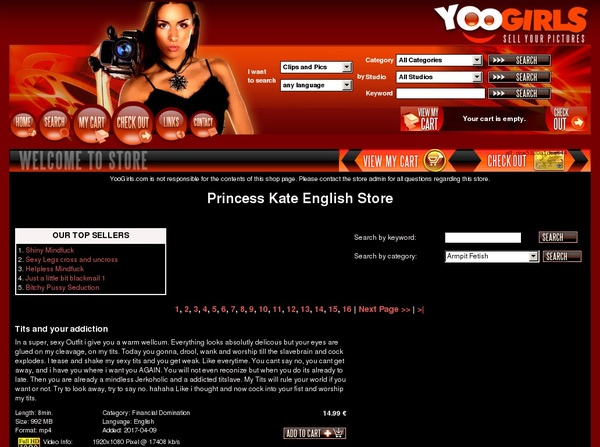 Princess Kate English Passwords