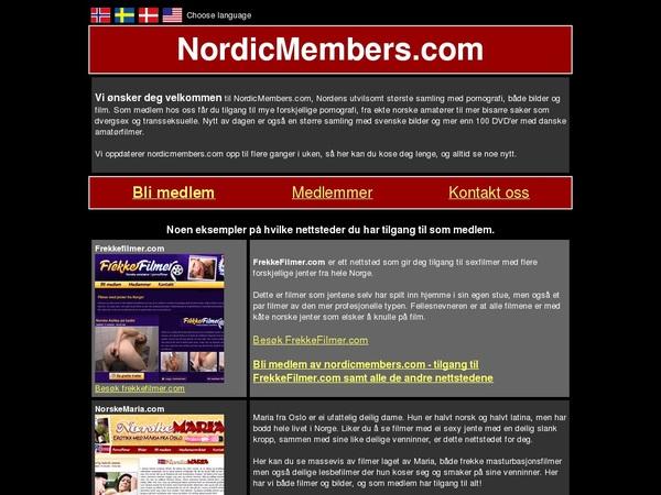 Accounts Of Nordic Members